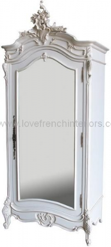Bespoke Mirrored French Rococo Armoire